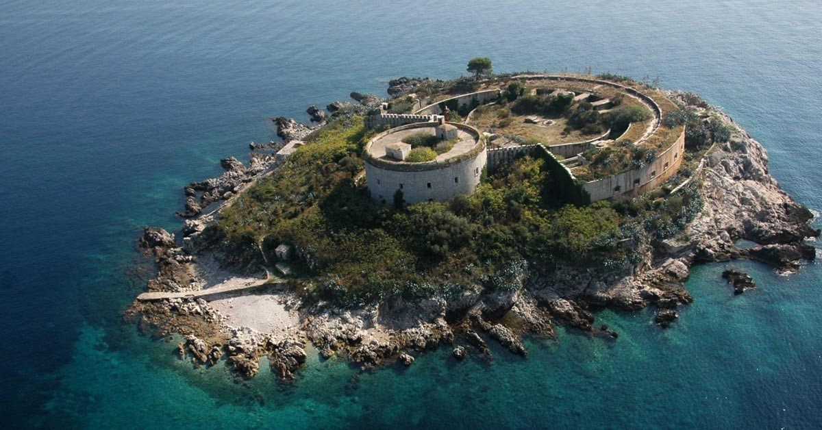 Mamula - an island at the entrance to Bay of Kotor