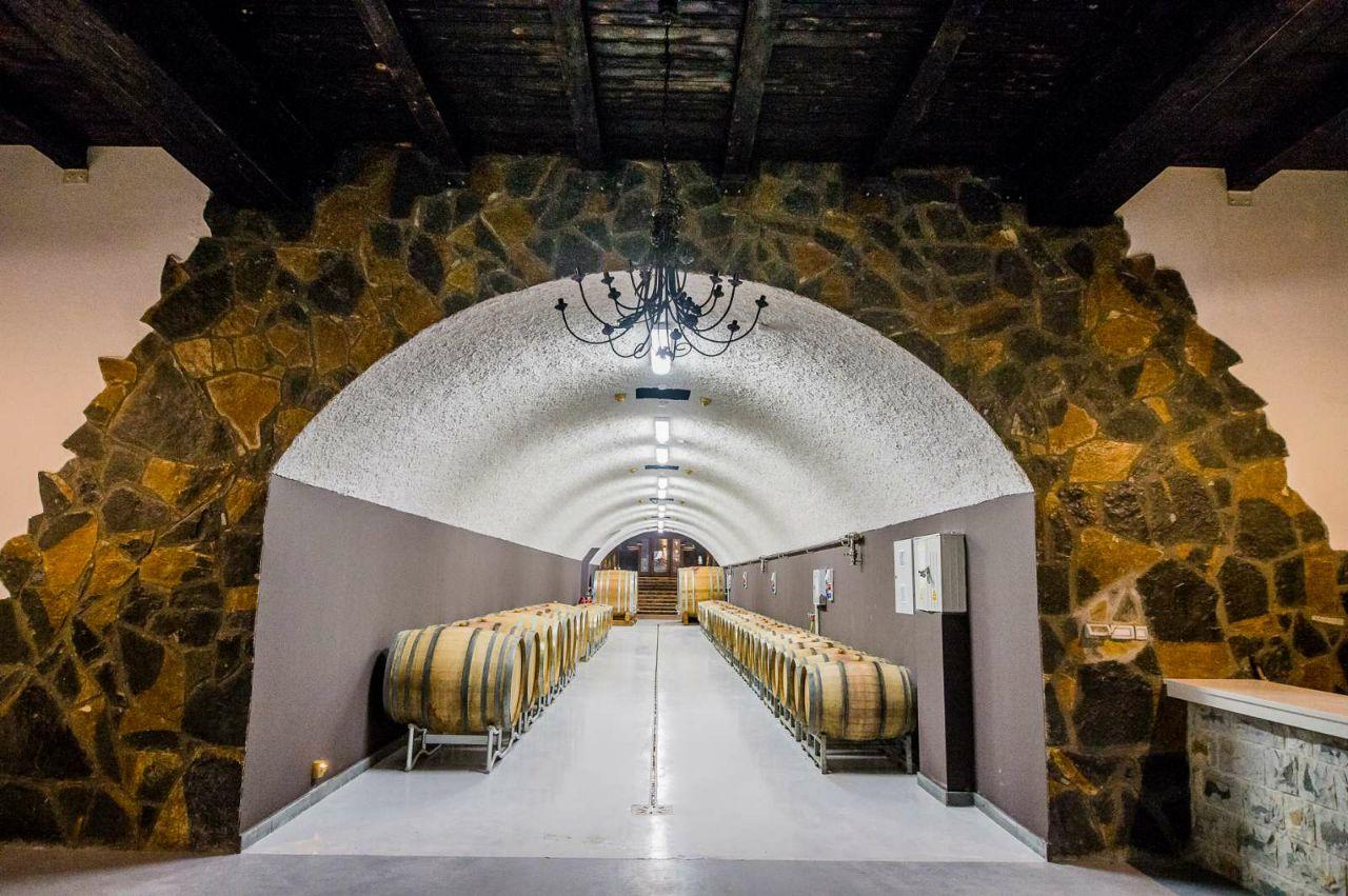 Underground wine storage