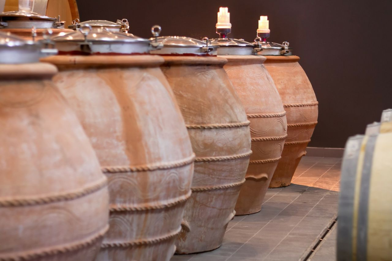 Clay amphorae used for making wine